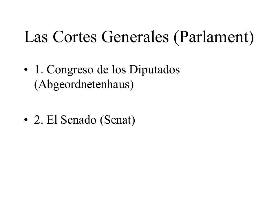 Las Cortes Generales (Parlament)