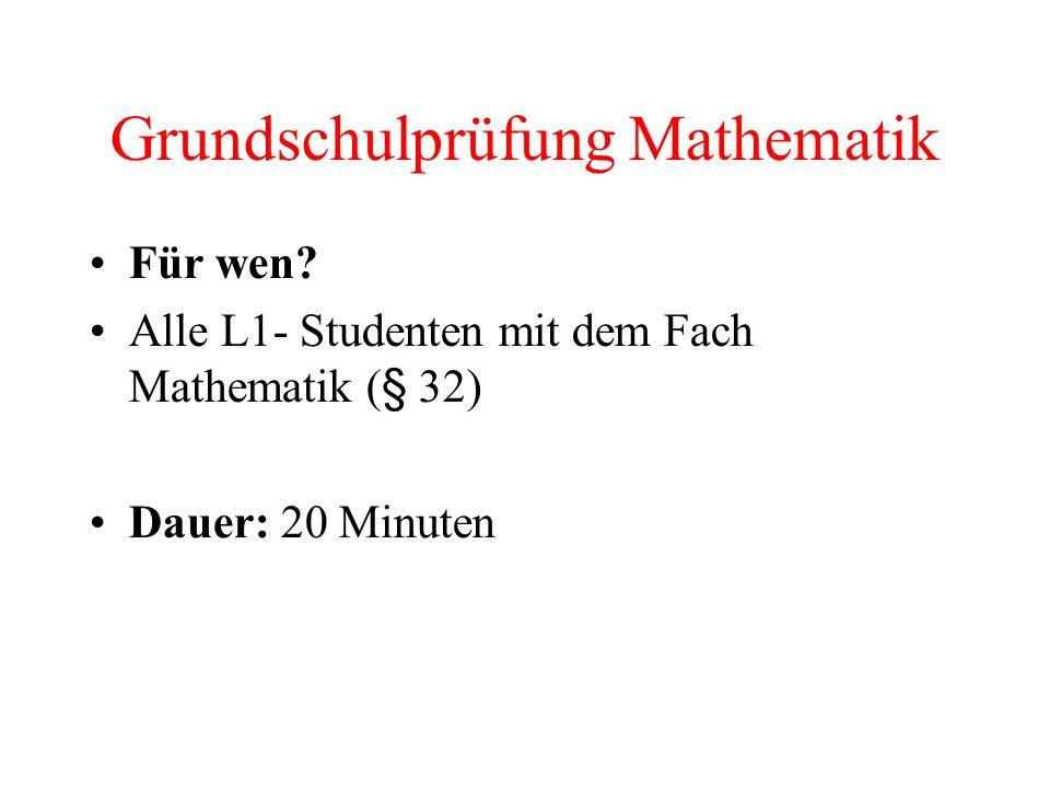 Grundschulprüfung Mathematik