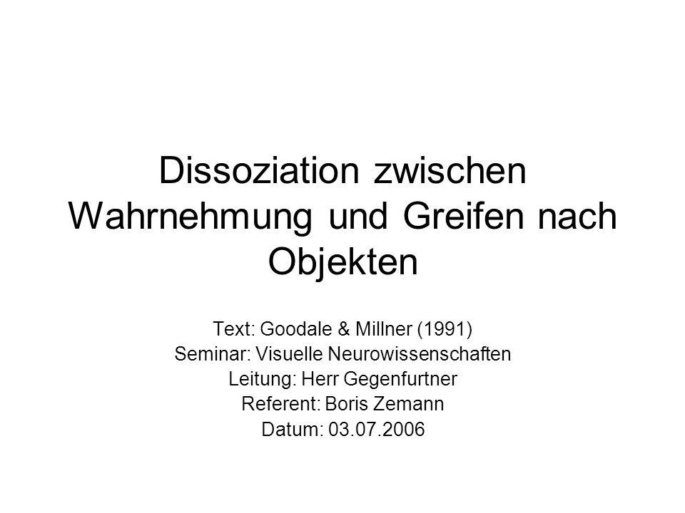 Dissoziation zwischen Wahrnehmung und Greifen nach Objekten