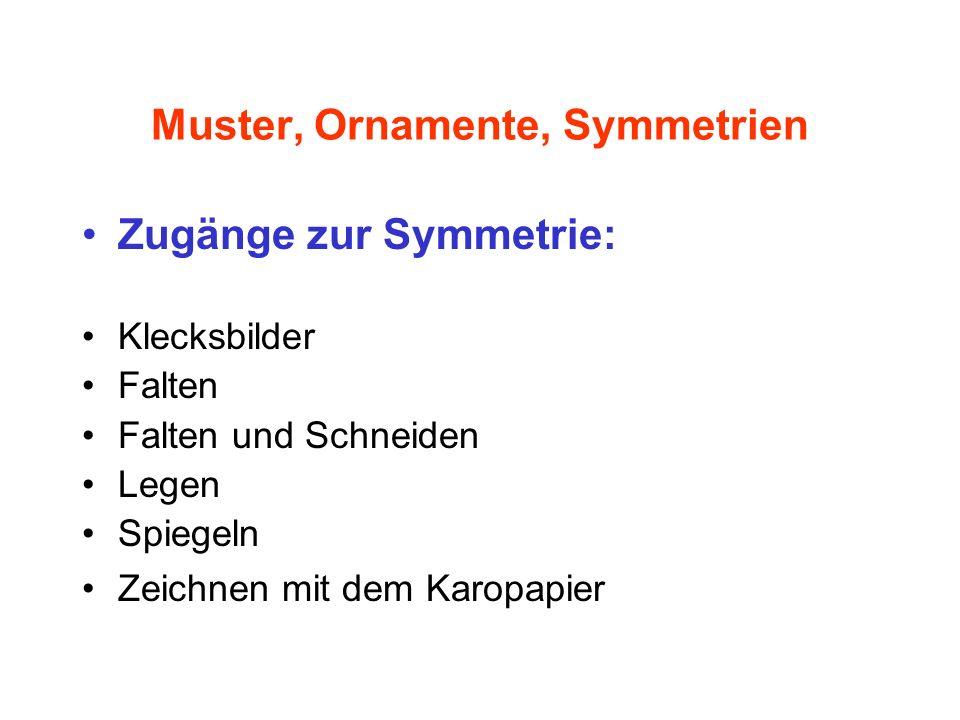 Muster, Ornamente, Symmetrien