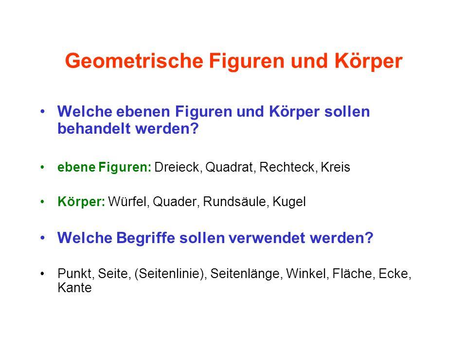 Geometrische Figuren und Körper