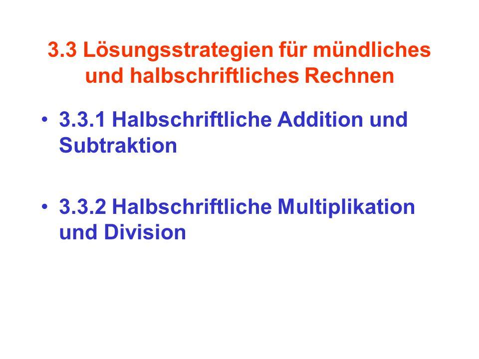 3.3 Lösungsstrategien für mündliches und halbschriftliches Rechnen