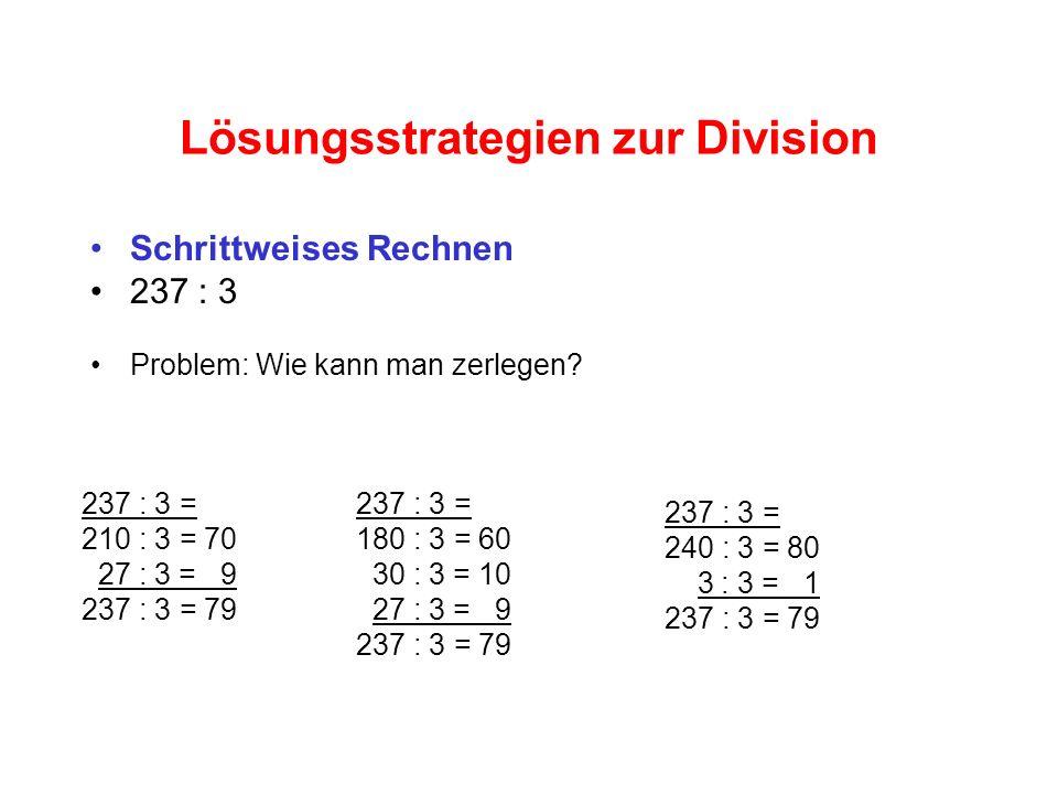 Lösungsstrategien zur Division