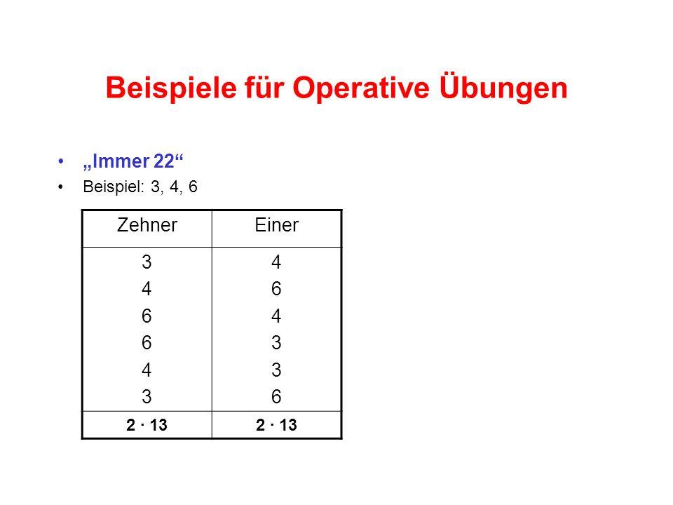 Beispiele für Operative Übungen