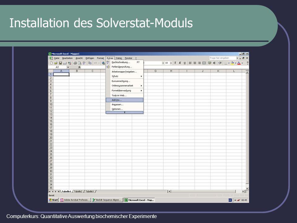 Installation des Solverstat-Moduls