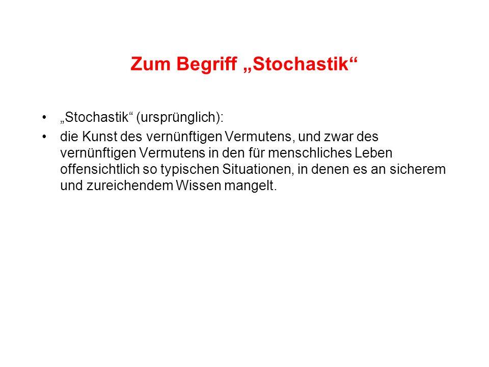 "Zum Begriff ""Stochastik"
