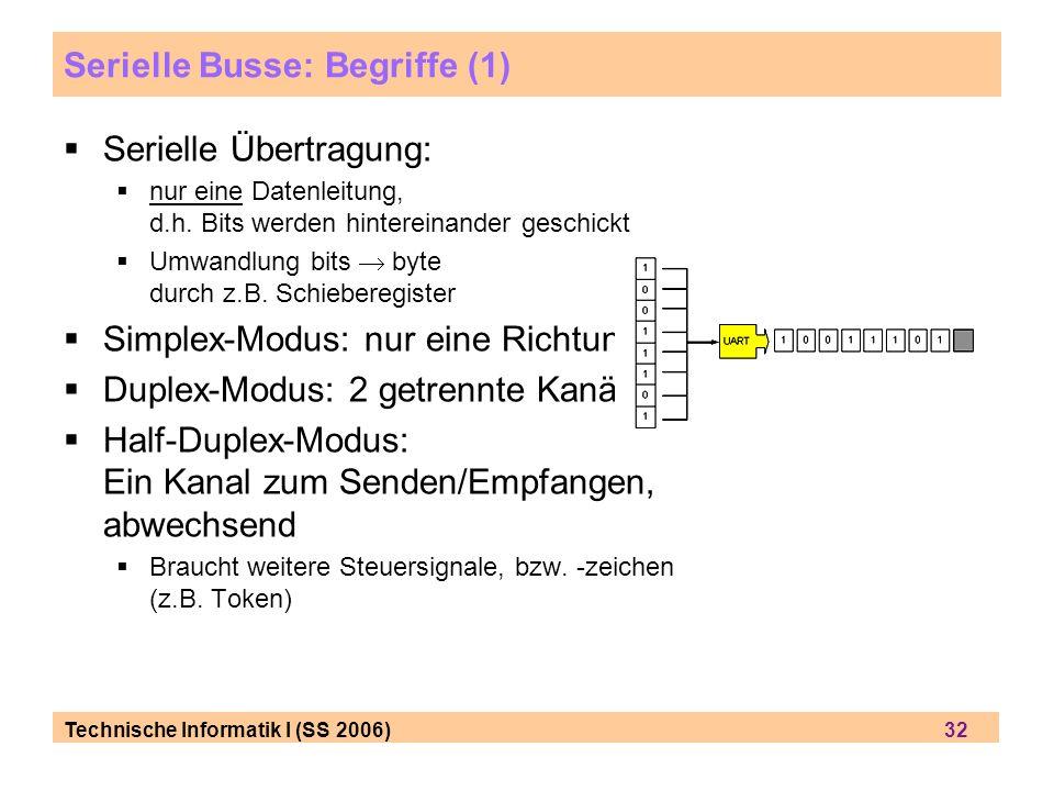 Serielle Busse: Begriffe (1)