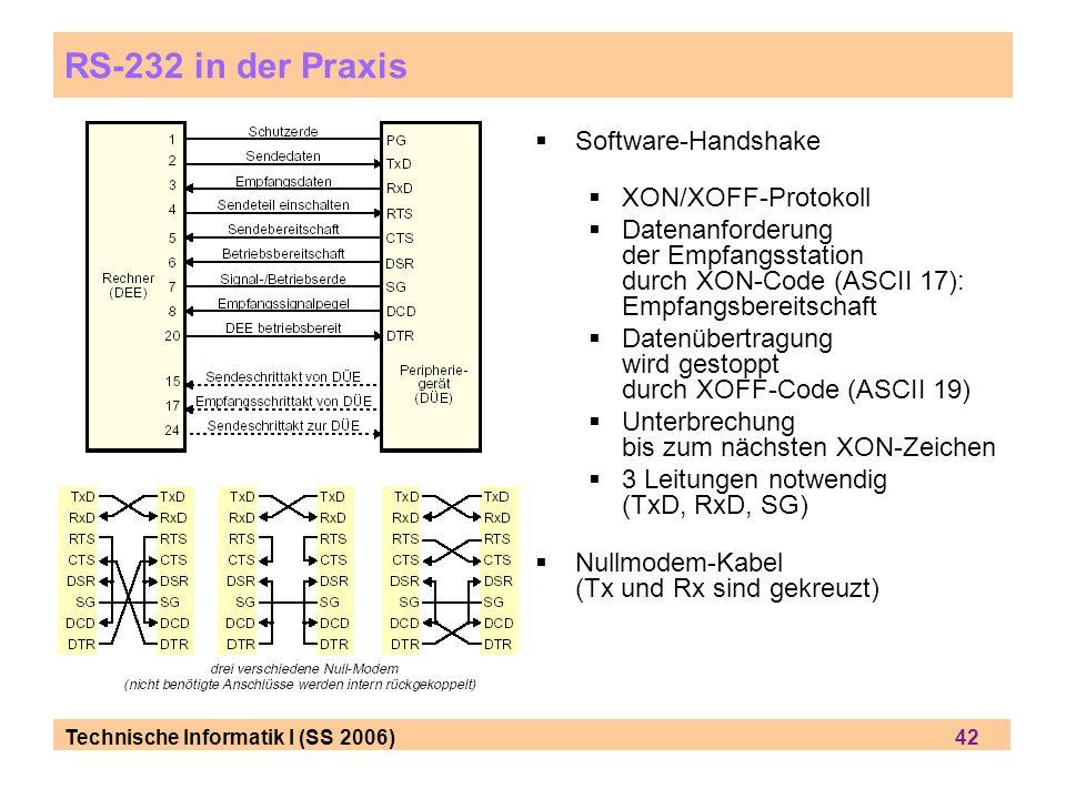 RS-232 in der Praxis Software-Handshake XON/XOFF-Protokoll