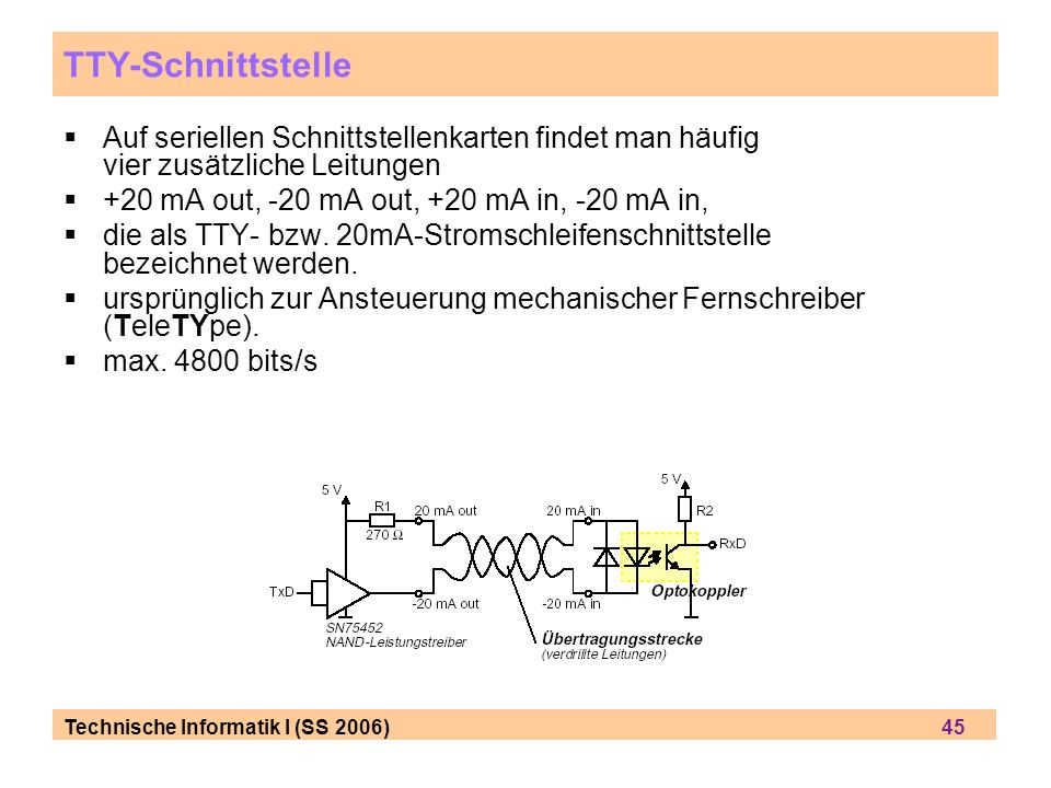 TTY-Schnittstelle Auf seriellen Schnittstellenkarten findet man häufig vier zusätzliche Leitungen.