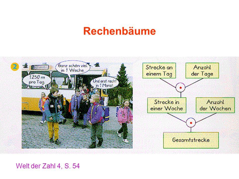 Rechenbäume Welt der Zahl 4, S. 54
