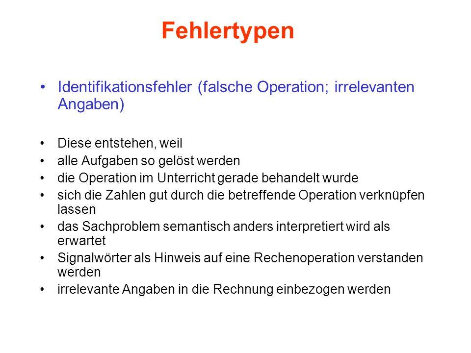 Fehlertypen Identifikationsfehler (falsche Operation; irrelevanten Angaben) Diese entstehen, weil.