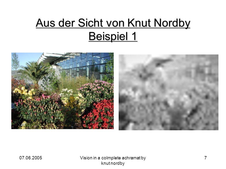 Aus der Sicht von Knut Nordby Beispiel 1