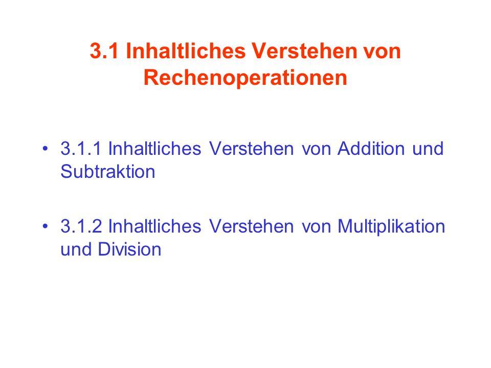 3.1 Inhaltliches Verstehen von Rechenoperationen