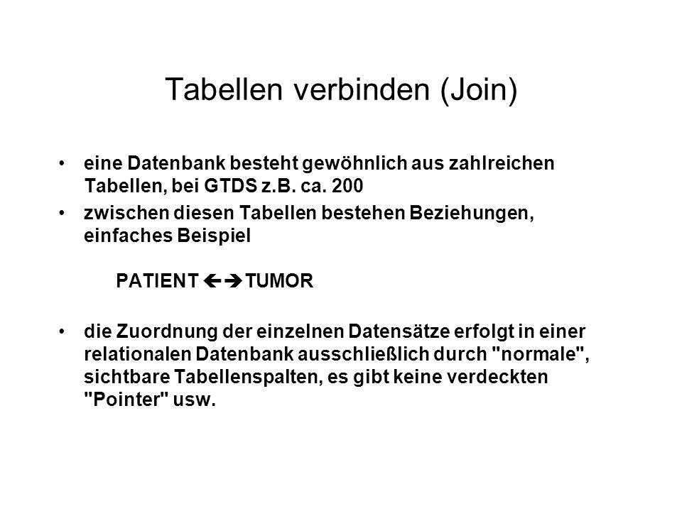 Tabellen verbinden (Join)