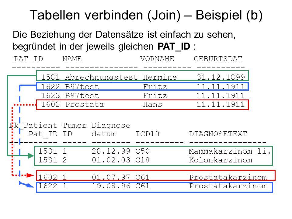 Tabellen verbinden (Join) – Beispiel (b)