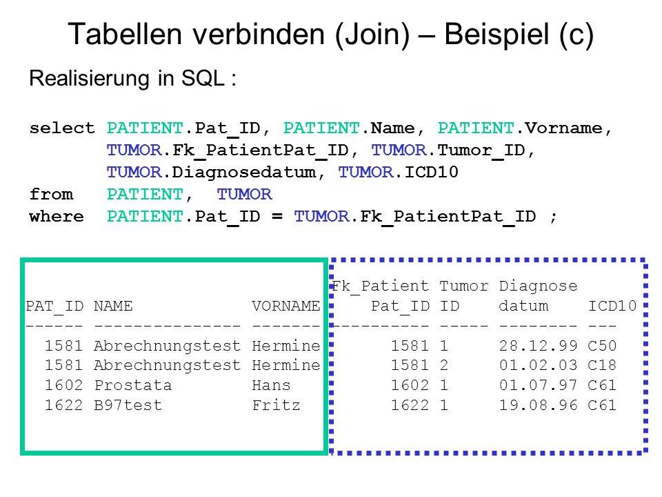 Tabellen verbinden (Join) – Beispiel (c)