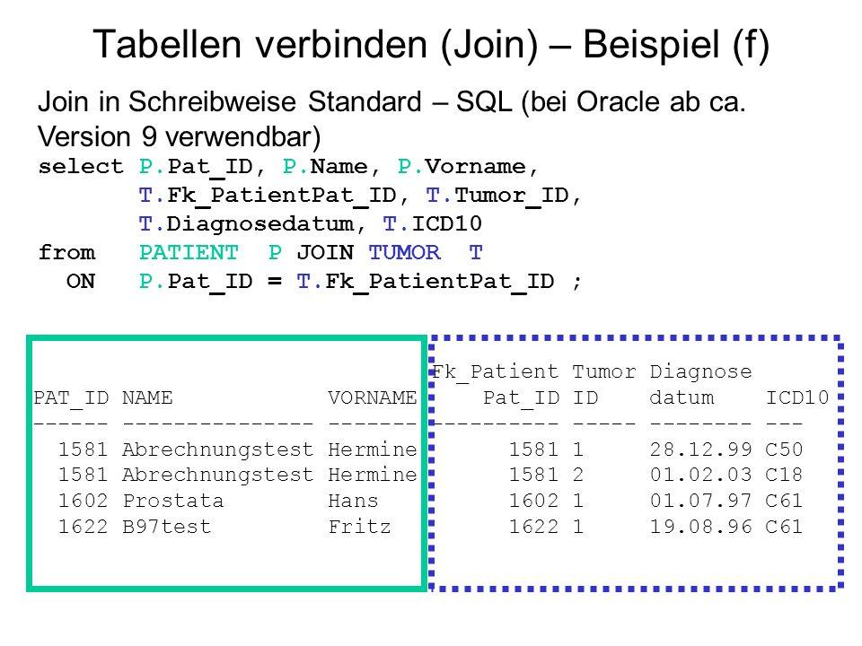 Tabellen verbinden (Join) – Beispiel (f)