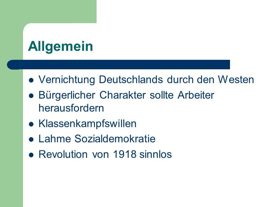 Allgemein Vernichtung Deutschlands durch den Westen