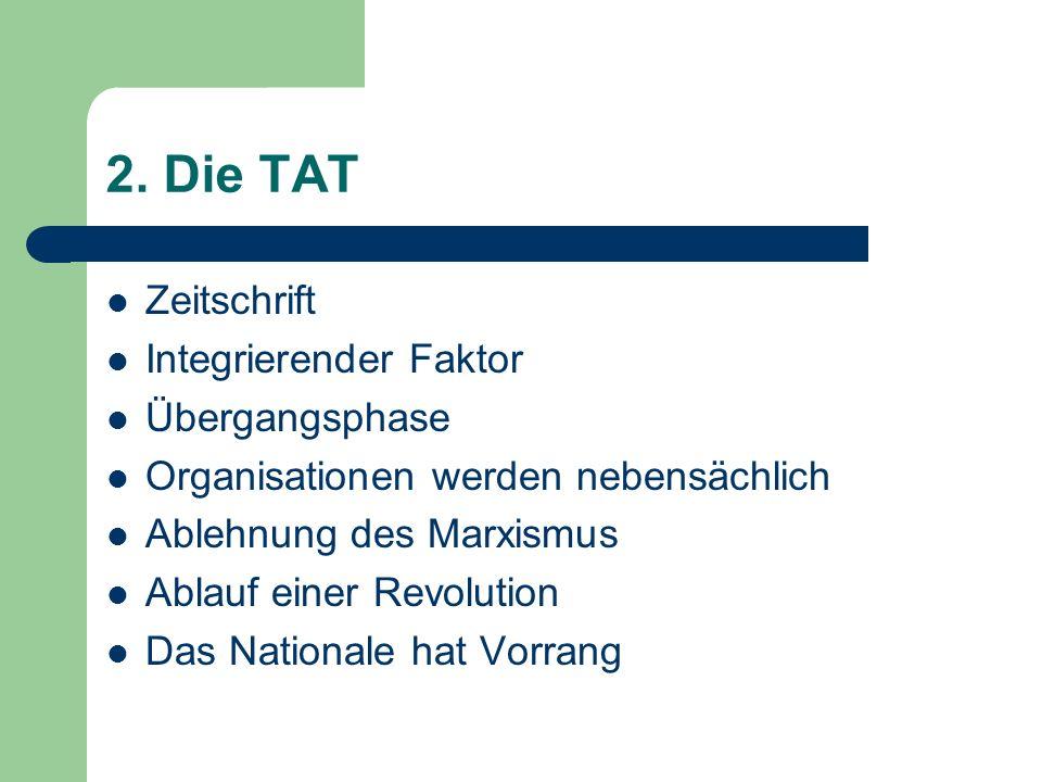 2. Die TAT Zeitschrift Integrierender Faktor Übergangsphase