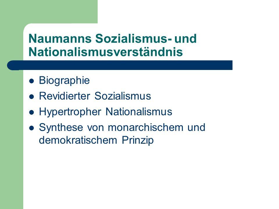 Naumanns Sozialismus- und Nationalismusverständnis
