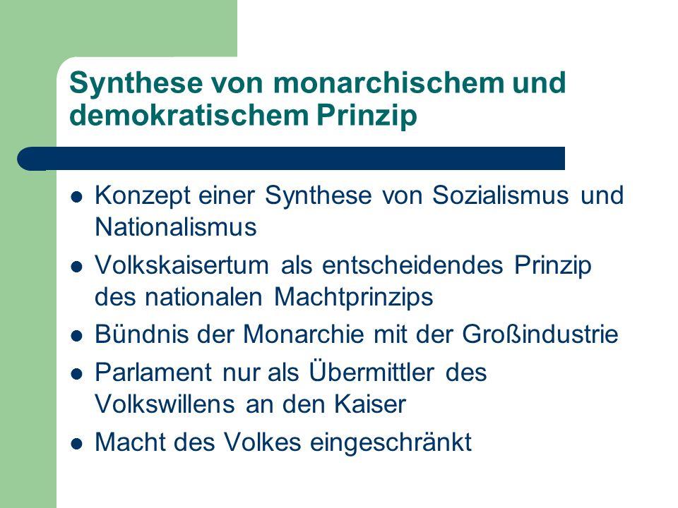 Synthese von monarchischem und demokratischem Prinzip