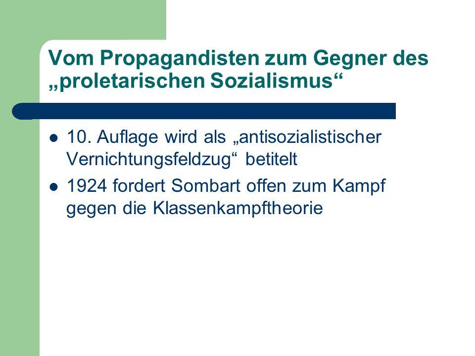 """Vom Propagandisten zum Gegner des """"proletarischen Sozialismus"""
