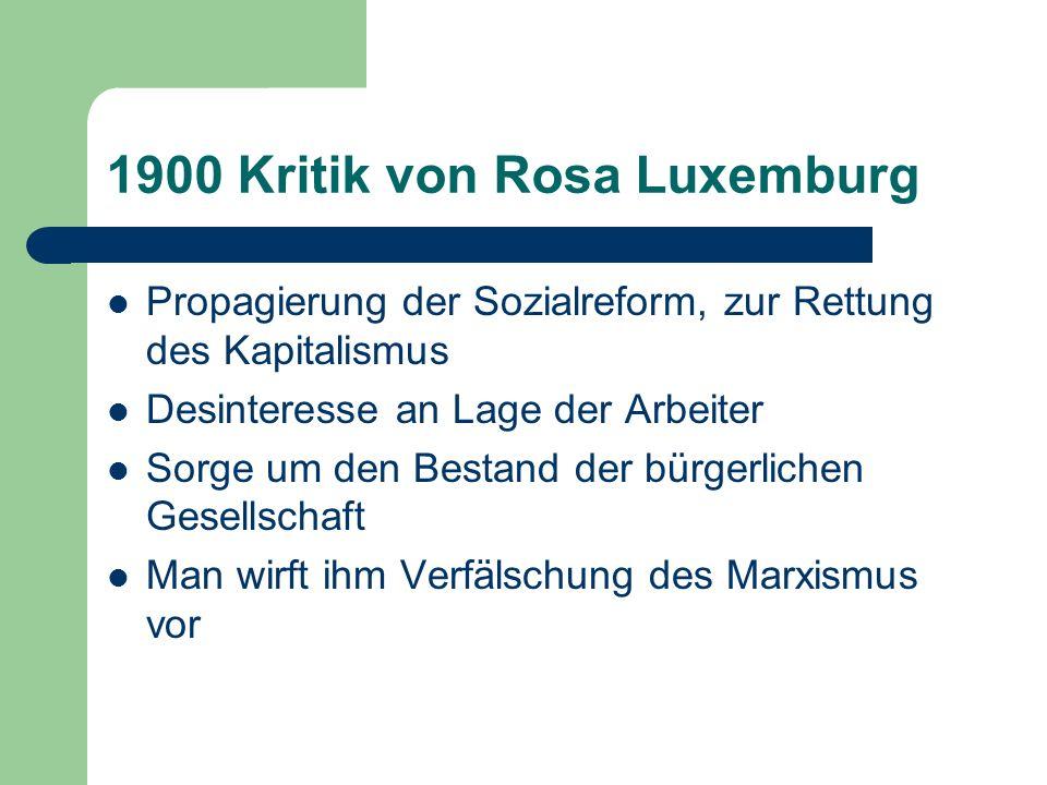 1900 Kritik von Rosa Luxemburg