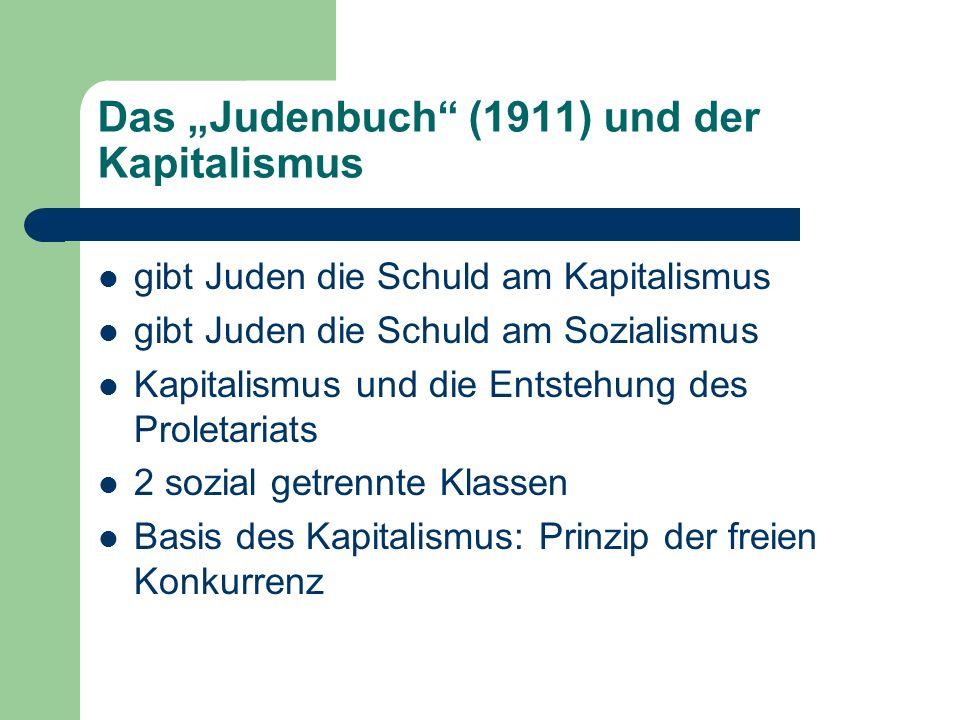 """Das """"Judenbuch (1911) und der Kapitalismus"""