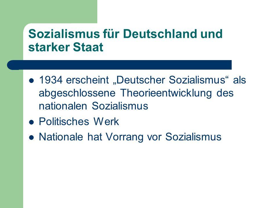 Sozialismus für Deutschland und starker Staat