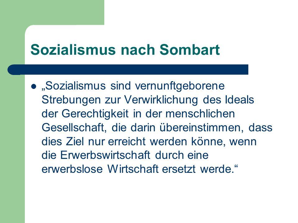 Sozialismus nach Sombart