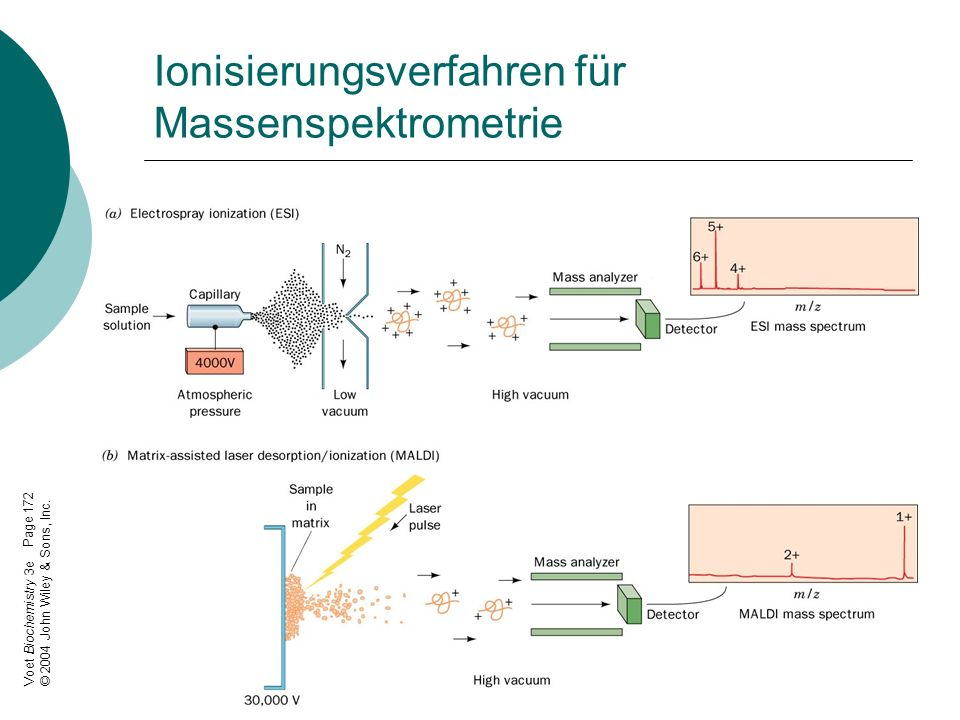 Ionisierungsverfahren für Massenspektrometrie