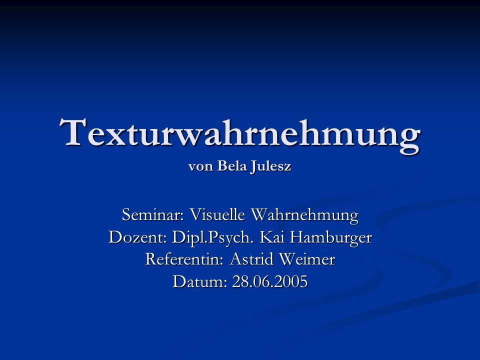 Texturwahrnehmung von Bela Julesz