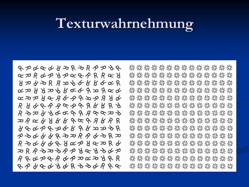 Texturwahrnehmung Statistiken 1. und 2. Ordnung sind gleich, keine Unterscheidbarkeit Reserve