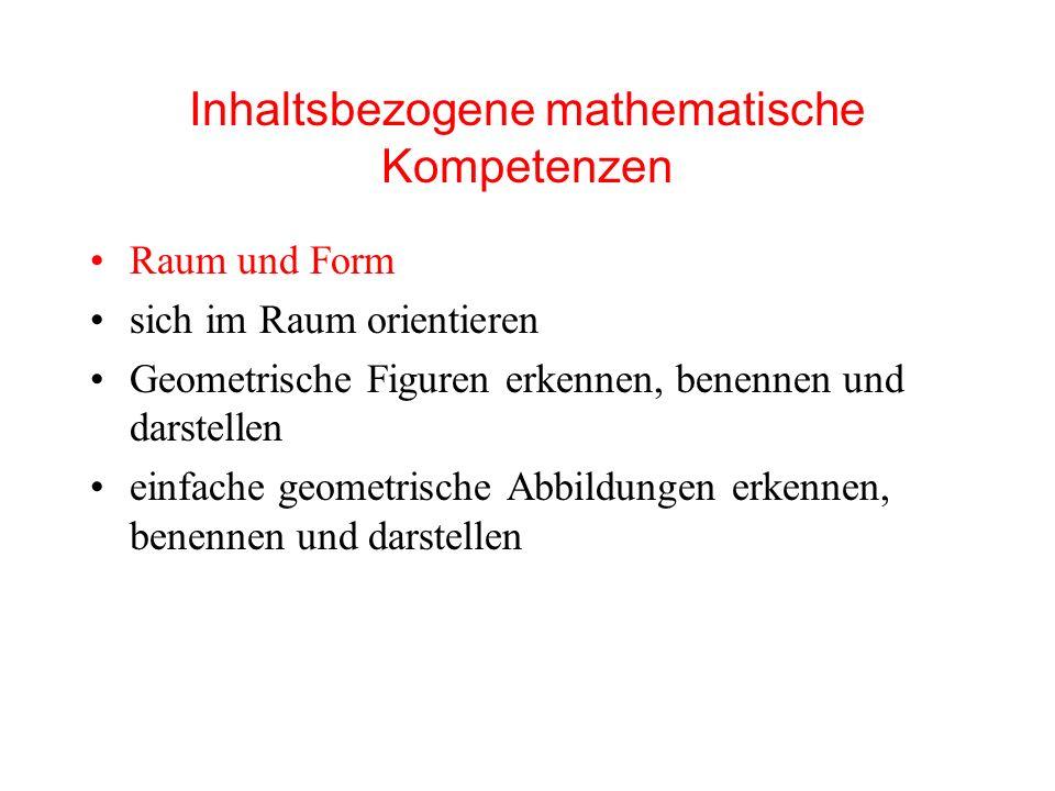 Inhaltsbezogene mathematische Kompetenzen