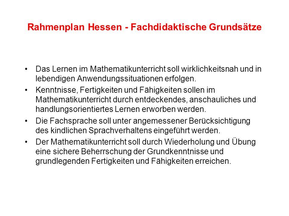 Rahmenplan Hessen - Fachdidaktische Grundsätze