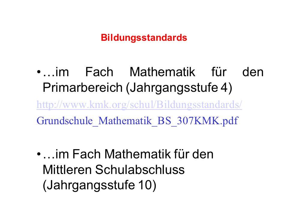 …im Fach Mathematik für den Primarbereich (Jahrgangsstufe 4)