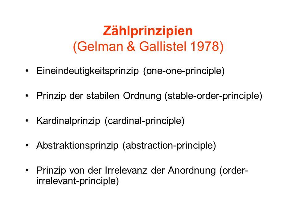 Zählprinzipien (Gelman & Gallistel 1978)