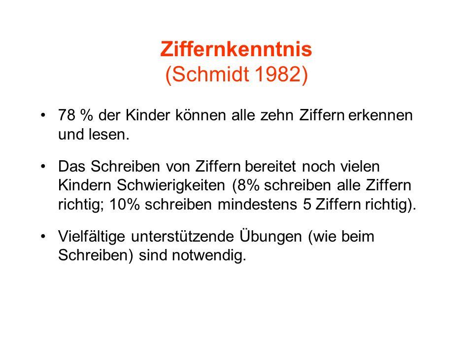 Ziffernkenntnis (Schmidt 1982)