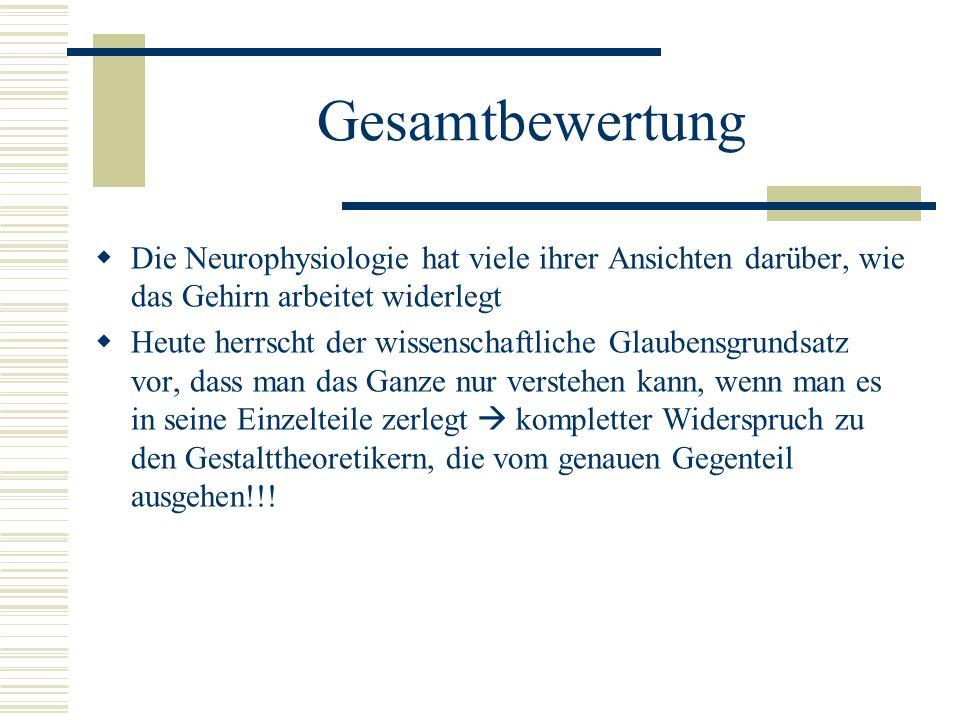 Gesamtbewertung Die Neurophysiologie hat viele ihrer Ansichten darüber, wie das Gehirn arbeitet widerlegt.