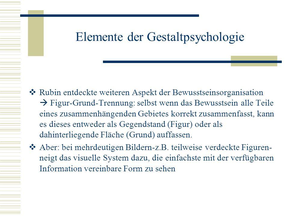Elemente der Gestaltpsychologie