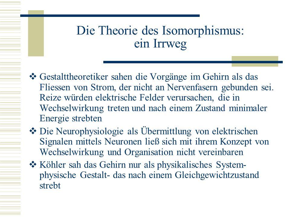 Die Theorie des Isomorphismus: ein Irrweg