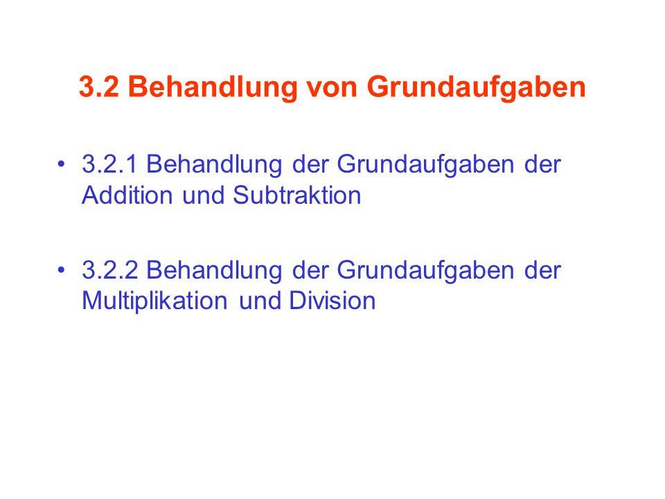 3.2 Behandlung von Grundaufgaben
