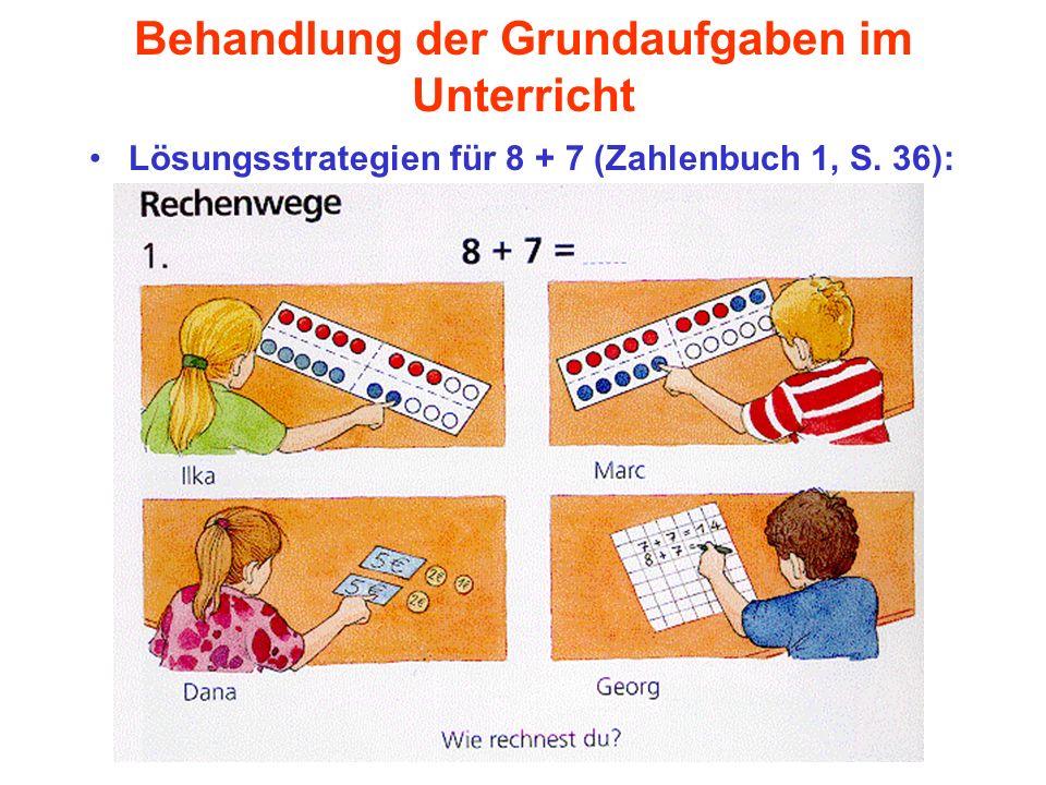 Behandlung der Grundaufgaben im Unterricht