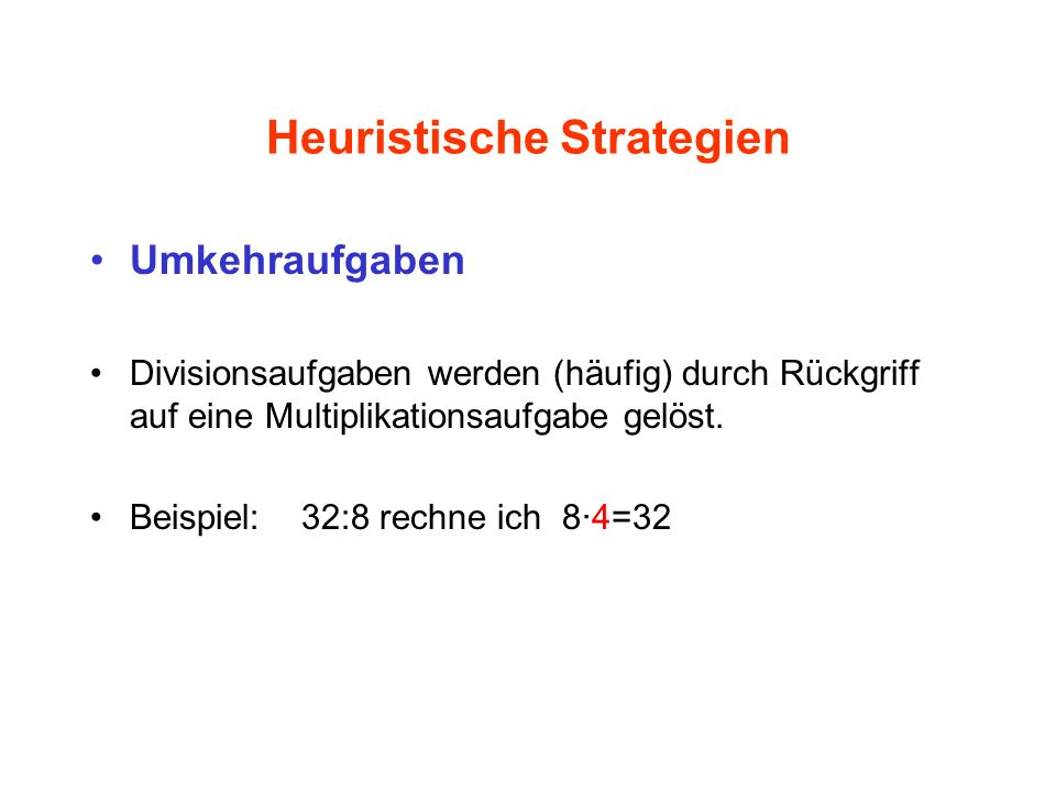 Heuristische Strategien