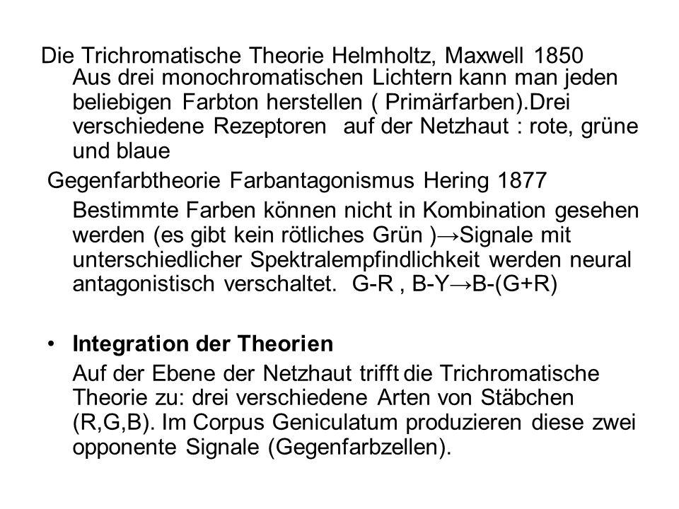 Die Trichromatische Theorie Helmholtz, Maxwell 1850