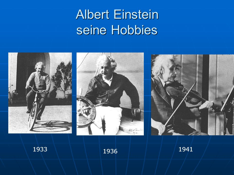 Albert Einstein seine Hobbies