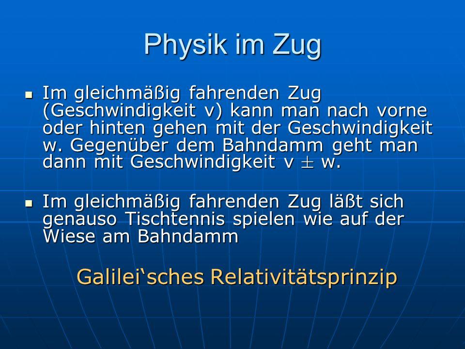 Galilei'sches Relativitätsprinzip