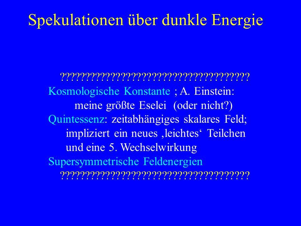 Spekulationen über dunkle Energie