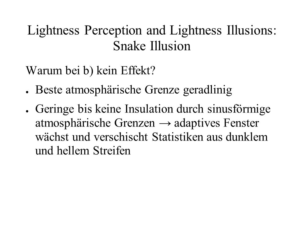 Lightness Perception and Lightness Illusions: Snake Illusion