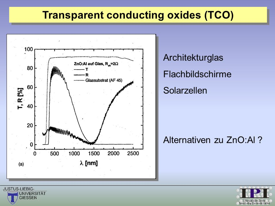 Transparent conducting oxides (TCO)
